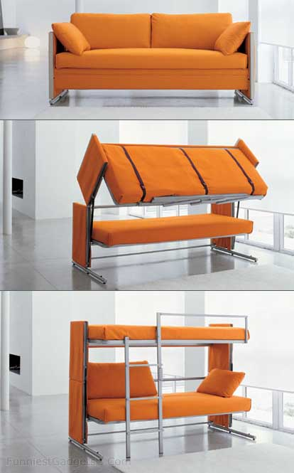 Phenomenal Sofa Bed Turns To A Bunk Bed Aloof Kid Caraccident5 Cool Chair Designs And Ideas Caraccident5Info